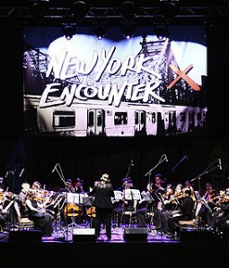 An orchestral performance at the 2012 New York Encounter.