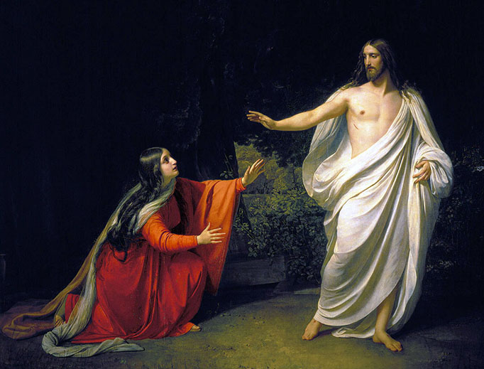 "Alexander Andreyevich Ivanov, ""Appearance of Jesus Christ to St. Mary Magdalene"", 1835"