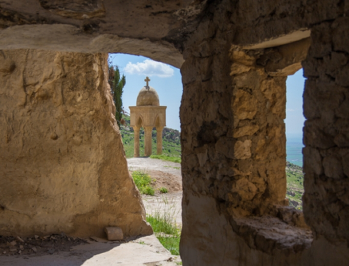 Rabban Hormizd Monastery of the Chaldean Catholic Church, founded about 640, just north of Mosul.