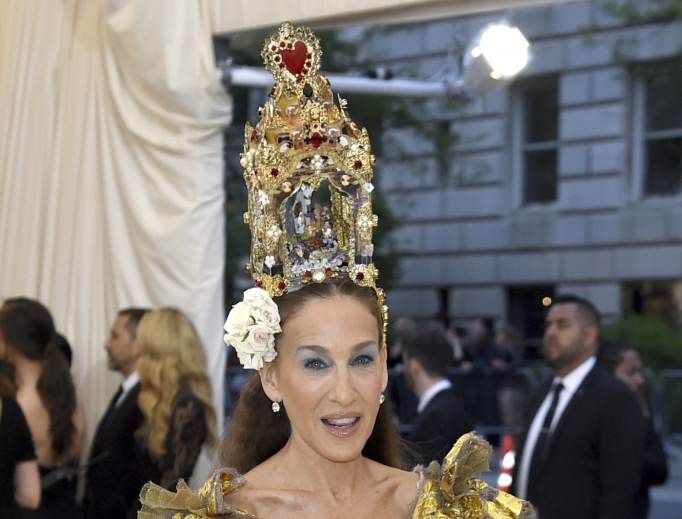 Sarah Jessica Parker attends the Metropolitan Museum of Art's Costume Institute benefit gala celebrating the opening of the 'Heavenly Bodies: Fashion and the Catholic Imagination' exhibition on May 7 in New York.