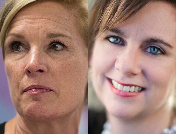 Cecile Richards of Planned Parenthood and Marjorie Dannenfelser (right) of Susan B. Anthony List