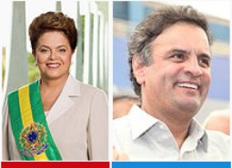 Brazilian voters will choose between incumbent President Dilma Rousseff (l) and challenger Aécio Neves in Sunday's presidential election.