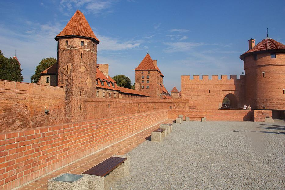 One of Poland's most dramatic post-World War II archaeological restorations is the Castle of the Teutonic Order in Malbork, between Warsaw and Gdansk.