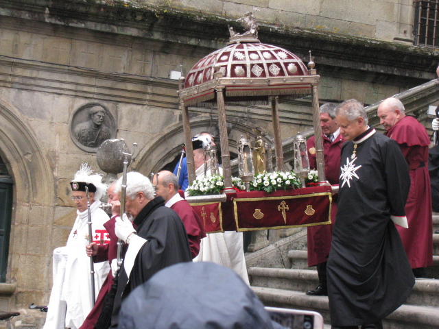 A procession on St. James' feast day, July 25