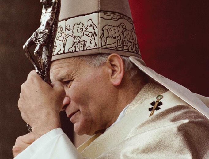 Pope John Paul II during Holy Week in 1983.