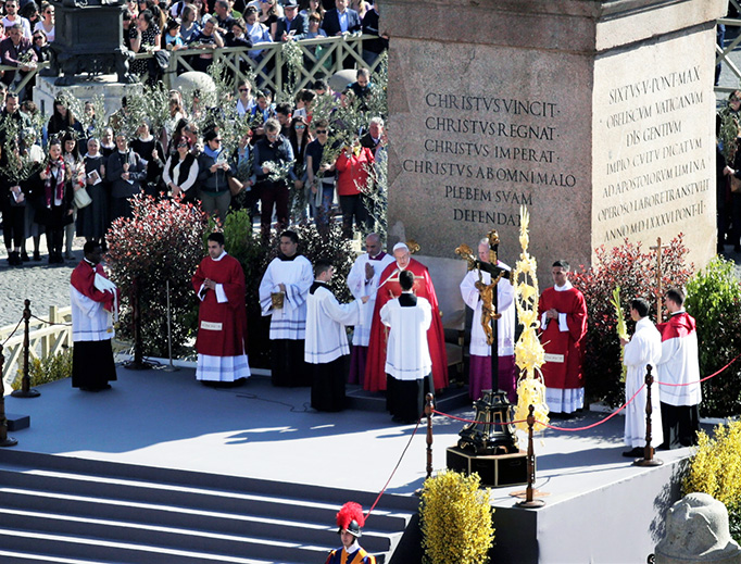 """During Palm Sunday Mass on April 9, Pope Francis extended his """"deep condolences"""" to Pope Tawadros II and expressed his closeness with the Coptic Church and the Egyptian people in the aftermath of the massacre."""