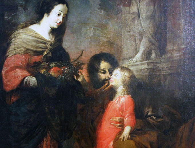 """Michael Willman, """"The Kiss of Saint Joseph,"""" c. 1675, from the National Museum in Wroclaw, Poland."""