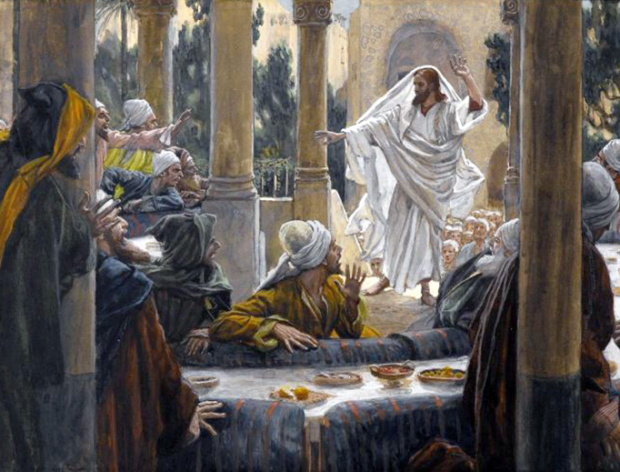 "James Tissot (1836-1902), ""Curses Against the Pharisees"""