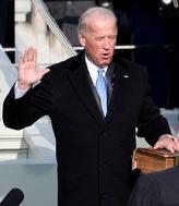 Biden being sworn in Jan. 20 as vice president.
