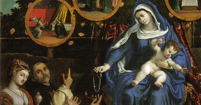 "Lorenzo Lotto (1480–1556), ""Madonna of the Rosary"""