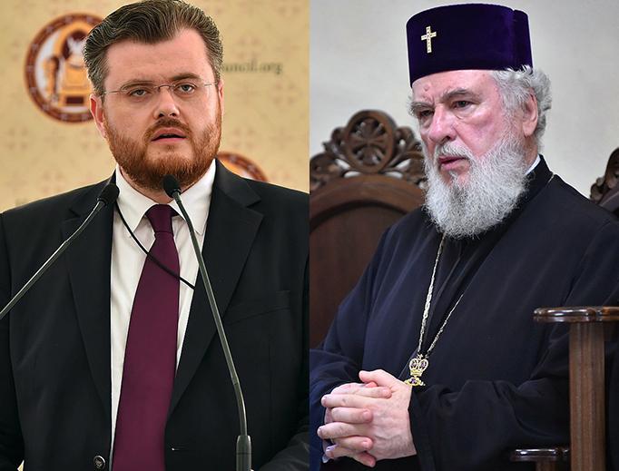 LEFT: Dr. Ionut Mavrichi, spokesman for the Romanian Orthodox patriarchate. RIGHT: Archbishop Nifon of Tîrgoviște, Romania.