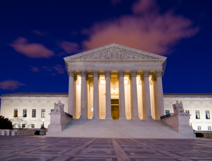 Facade of the United States Supreme Court in Washington, D.C.
