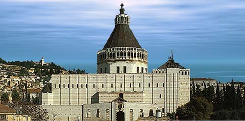 The Basilica of the Annunciation in Nazareth
