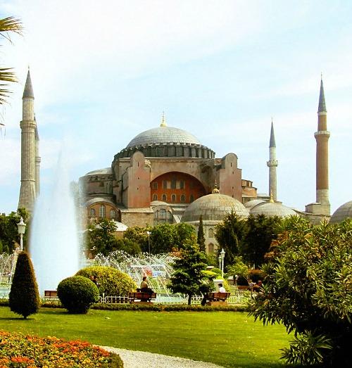 The Hagia Sophia museum in Istanbul.