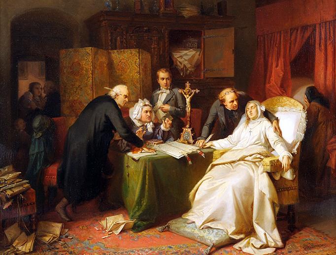 """Gisbert Flüggen, """"Die Erbschleicher"""", 1855"""