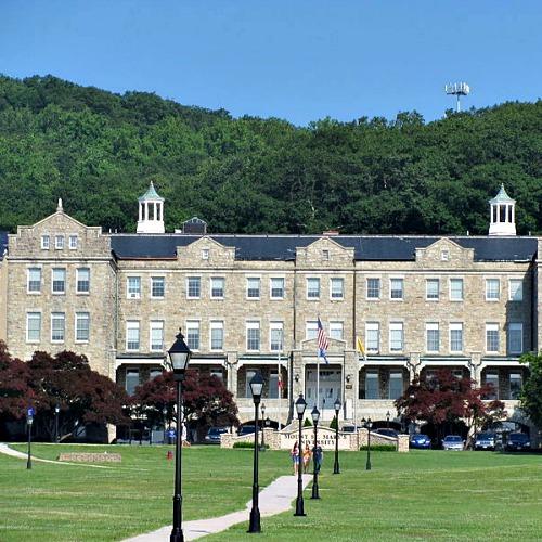 Bradley Hall at Mount St. Mary's University in Emmitsburg, Md.