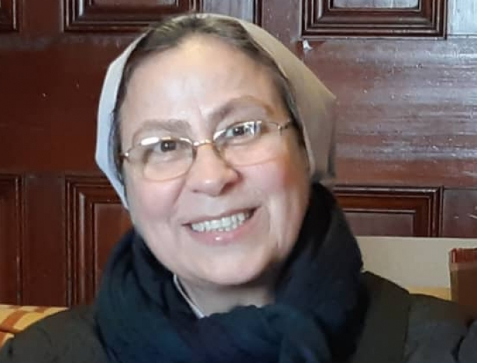 """Sister Annie Demerjian says, """"There is so much suffering.""""  But faith gives strength as the people heal, with the support of the sisters."""