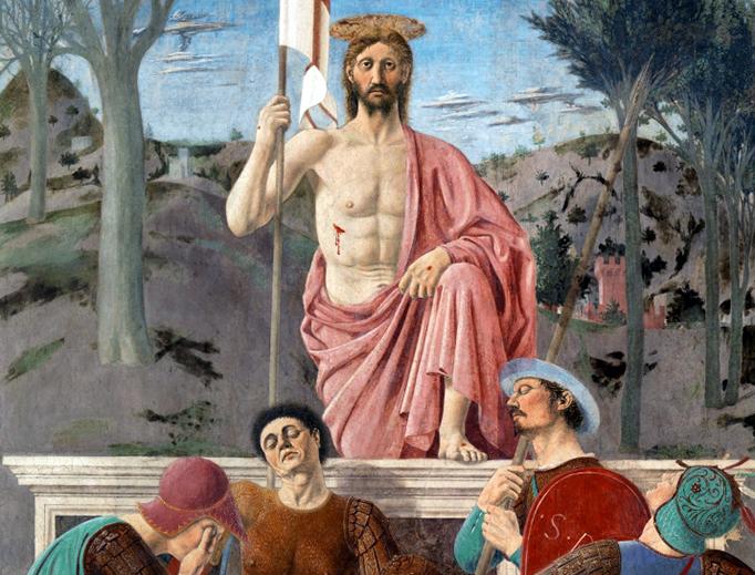 """Piero della Francesca, """"The Resurrection of Jesus Christ,"""" 1463"""