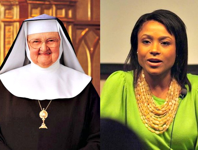 Mother Angelica. Dominique Dawes.