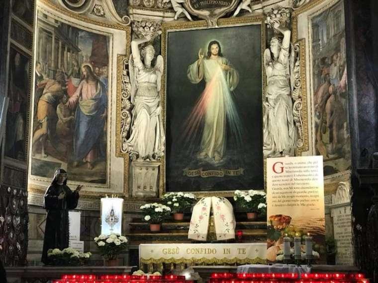 Santo Spirito Church is the Roman headquarters for the Divine Mercy devotion.