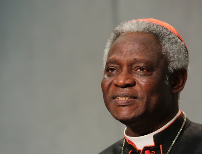 Cardinal Peter Turkson of Ghana at a Holy See press conference on the synod on the family on Oct. 23, 2015.