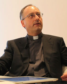 Father Antonio Spadaro discusses La Civilta Cattolica with CNA during an April 2013 interview.