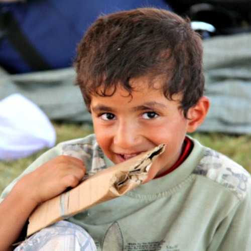 A young boy refugee in Erbil, Iraq.