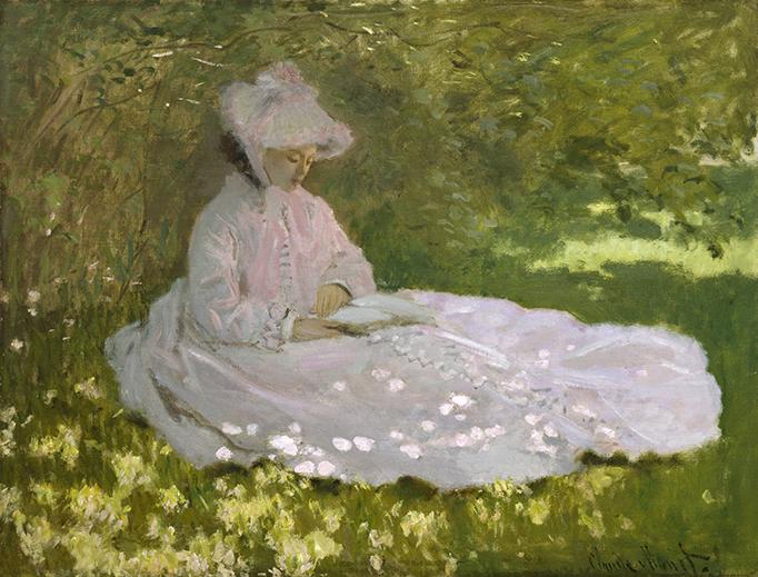 """Claude Monet, """"Springtime"""", 1872"""