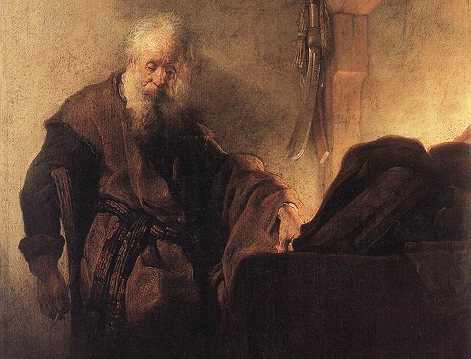 """Rembrandt, """"St. Paul at His Writing Desk,"""" c. 1629"""