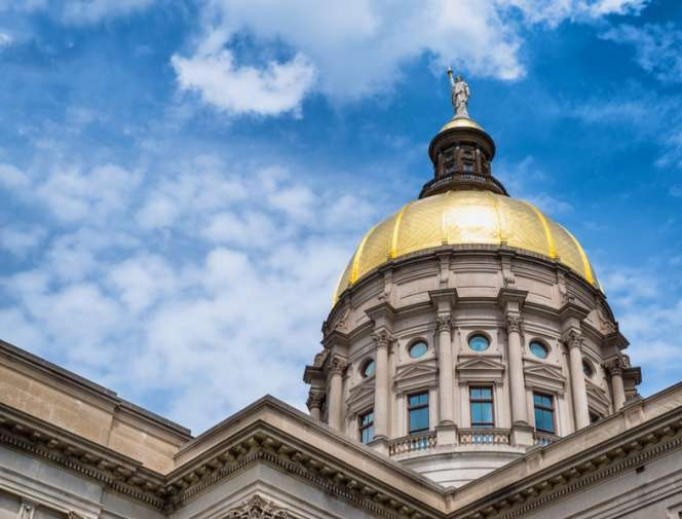The gold dome of Georgia's Capitol in Atlanta.
