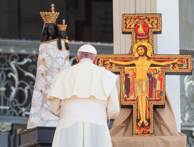 Pope Francis, shown during a gathering of Italian youth in St. Peter's Square Aug. 12, issued an Aug. 20 letter to the People of God on the clerical scandals.