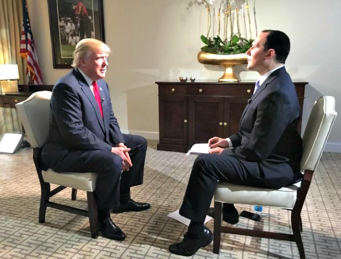 EWTN News Director Raymond Arroyo interviews Republican presidential candidate Donald Trump on 'The World Over.'