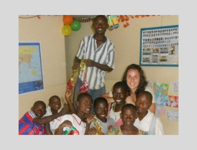 Krista Keil is shown during her time of missionary work in Africa.
