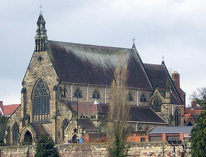 Shrewsbury Cathedral in Town Walls, Shrewsbury, Shropshire, England
