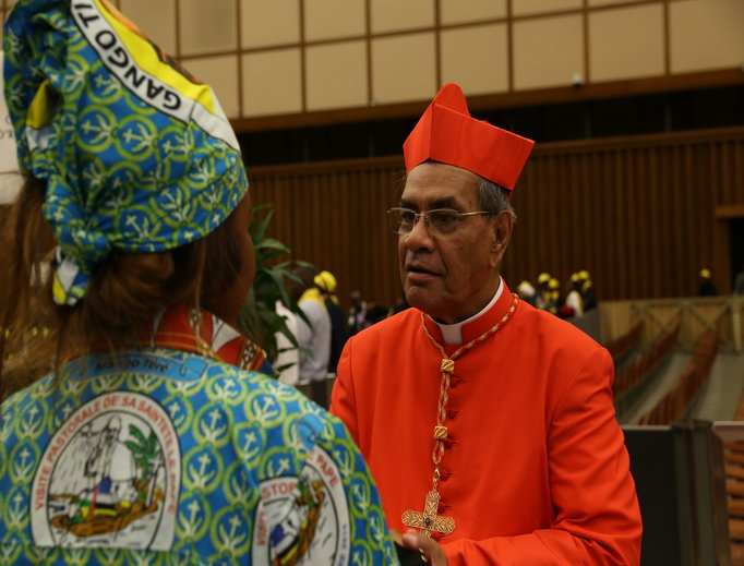 Cardinal Patrick D'Rozario on Nov. 19, the day he received his red hat.