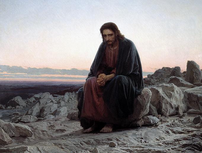 "Ivan Kramskoi, ""Christ in the Wilderness,"" 1872"
