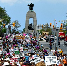 March for Life 2013 in Ottawa, Canada.