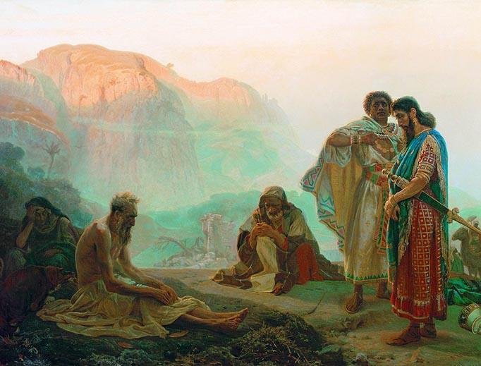"Ilya Repin, ""Job and His Friends,"" 1869"