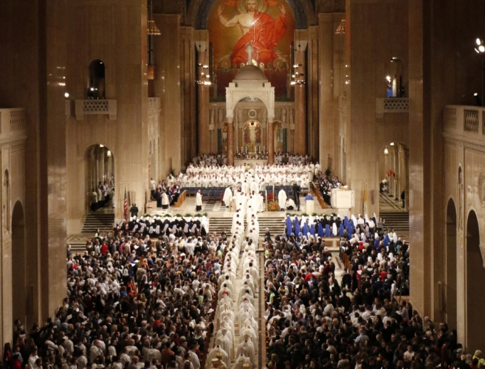 Mass for Life inside the Basilica of the National Shrine of the Immaculate Conception in Washington, D.C.