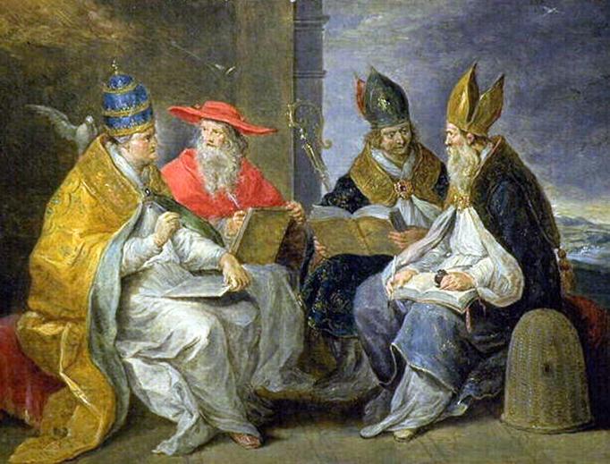 """Abraham van Diepenbeeck (1596-1675), """"The Four Western Doctors"""""""