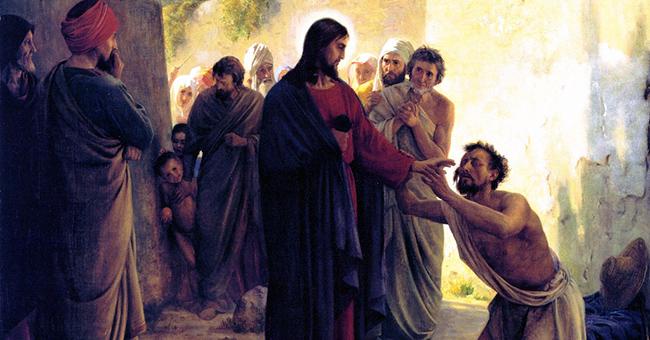 "Carl Bloch, ""Healing of the Blind Man"" (1871)"