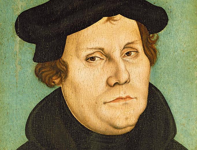 """Workshop of Lucas Cranach the Elder, """"Portrait of Martin Luther"""" (1528)"""