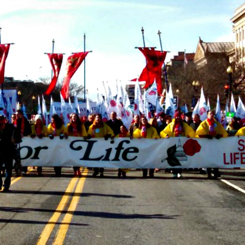 March for Life participants in Washington Jan. 22.