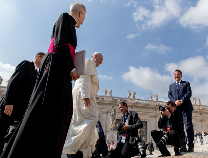 Pope Francis in St. Peter's Square for his General Audience, June 5, 2019.