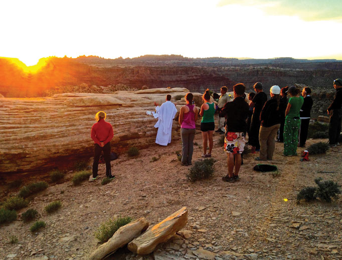 Wyoming Catholic College's chaplaincy plays a vital role in the life of its students, including at outdoor Masses.