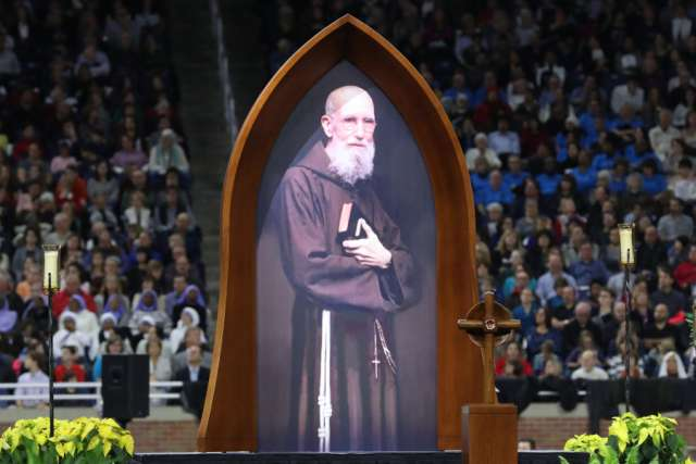 Blessed Solanus Casey beatification Mass at Ford Field in Detroit Nov. 18.