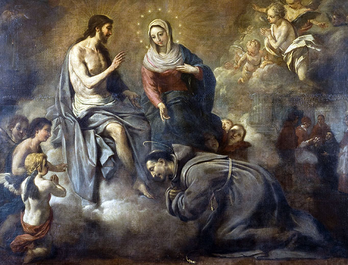 "Antoni Viladomat y Manalt, ""'Rebuild My Church': Jesus Gives St. Francis the Indulgence of the Portiuncula,"" c. 1723"