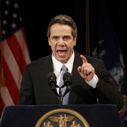 New York Governor Andrew Cuomo delivers his State of the State address at the Empire State Plaza Convention center in the New York State Capitol complex in Albany Jan. 5.