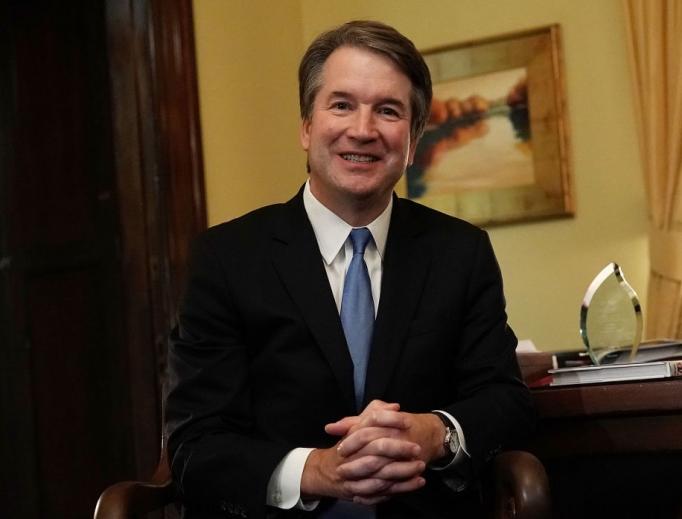 Supreme Court nominee Judge Brett Kavanaugh on Capitol Hill July 17 in Washington.
