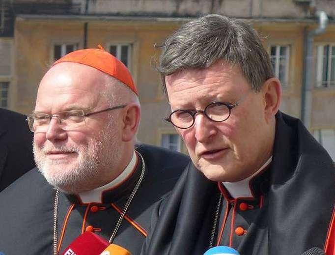 Cardinal Reinhard Marx and Cardinal Rainer Woelki.